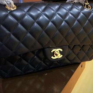Chanel Medium Flap in lambskin leather GHW