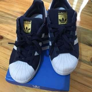 Adidas Superstars Suede Navy White