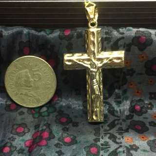 18K Cross Pendant 5.4g