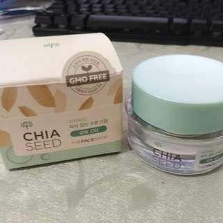 The face shop chia seed sebum control moisture cream
