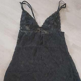 Black Lace Low Back Lingerie
