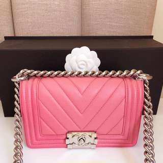 AUTHENTIC CHANEL SMALL BOY BAG