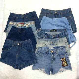 WHOLESALE AND PREPACK DENIM SHORTS