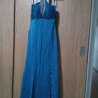 2 long gown for party ,Rose pink,dark blue green