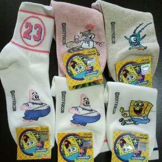 Spongebob Long Sock B (3 for $10.00)
