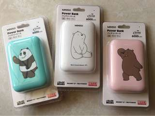 We Bare Bears Power Bank 6000mAh