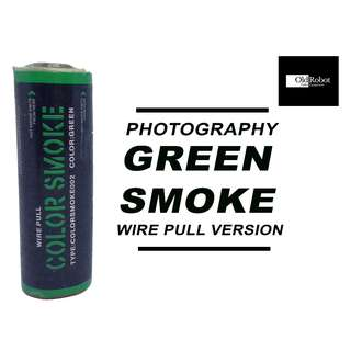Green Color Wire Pull Smoke for Photography