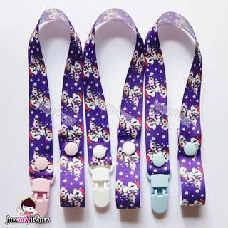 Multipurpose Toy clip / Pacifier clip / Dummy clip / Teether Holder Clip - TKDK P Purple Tokidoki
