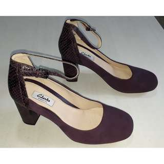 Brand New Clarks Gabriel Candy Purple Combi