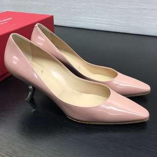 💯 Real Roger Vivier RV Nice Shoes 靚粉紅 高踭鞋 not prada Miu Miu chanel celine fendi ferragamo