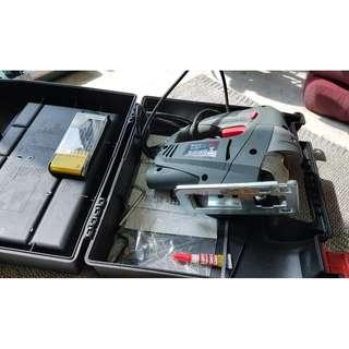 Tool Box with portable wood table saw
