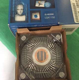 CPU heatsink and cooling fan