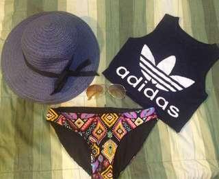 Swim suit and crop top