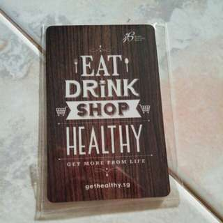 Eat Drink Shop Healthy HPB Ezlink / Nets Flash Pay Card