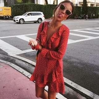 Starry Ruffle Dress