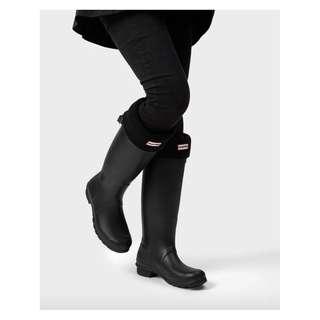 Hunter Black Boot Socks UK 6-8/EU 39-42/US 7-9 (M) / 8-10F ~ Hunter