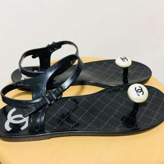 Chanel rubber sandals