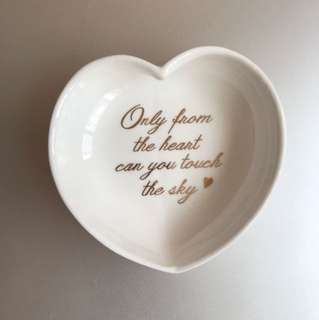 Ceramic HEART ring dish