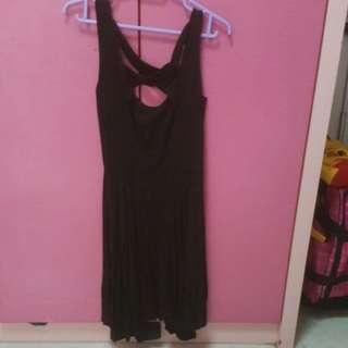 Black bearback dress