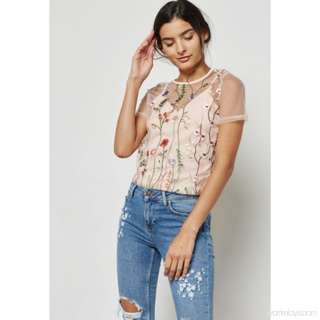 New Look Petite Embroidered Top