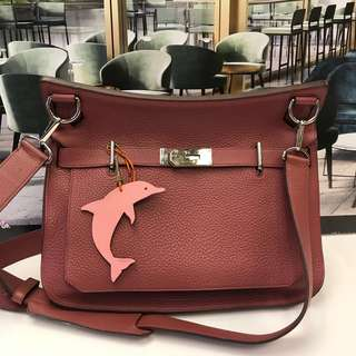 Hermes Dolphin Leather Charm