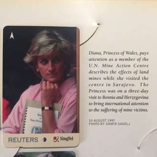 Five Limited Edition Princess Diana phonecards