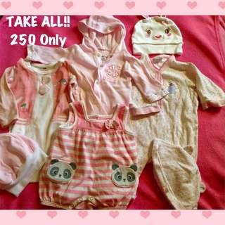 SALE! Take ALL Onesies! + Free red dress (Onesies- H&M / Disney Baby Girl / Infant