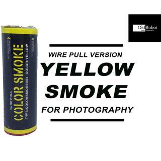 Yellow Color Wire Pull Smoke for Photography