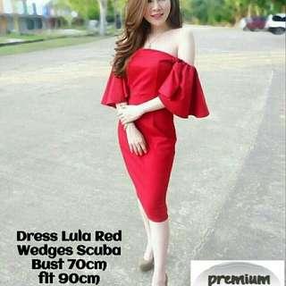77#DRESS LULA RED