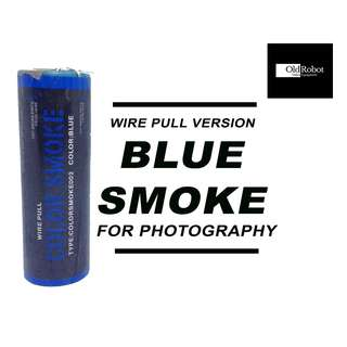 Blue Color Wire Pull Smoke for Photography