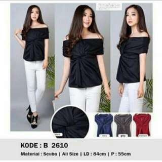 Baju sabrina/blouse ( ready warna hitam saja )