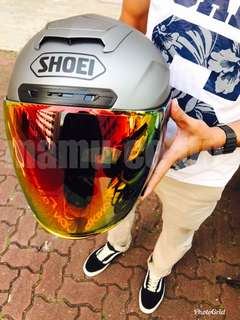Shoei Cj2 Smoke Red