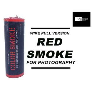 Red Color Wire Pull Smoke for Photography