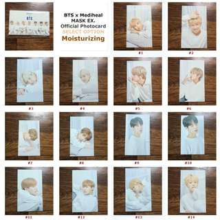 Bts x Mediheal official photocard incoming ready stock #CNY88