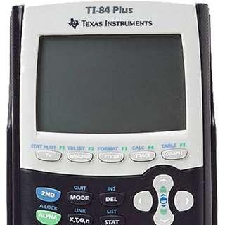 TI84 plus Texas instrument graphing calculator