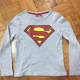 TERRANOVA SUPERMAN LONGSLEEVES 6-7yrs