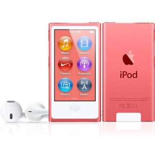 Ipod 7th gen pink complete almost bnew 😊