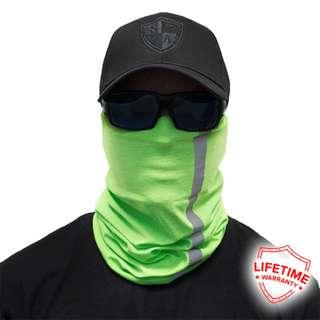 SA Co. Fishing Reflective Electric Green Face shield / Buff