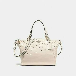 SMALL KELSEY SATCHEL WITH STARDUST STUDS. Style no. 22312