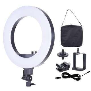 Pxel RL18 LED Studio LED Ring Light 3200K 5500K Photography Makeup