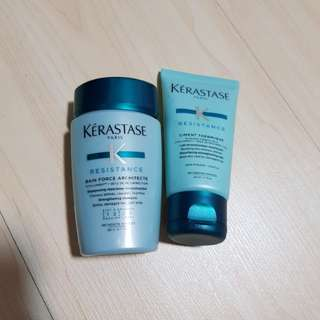 Kerastase Travel size Strengthening Shampoo and Strengthening milk