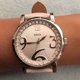 Sovil et Titus -  ladies watch (white) with crystals