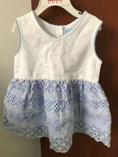 BNWT Gingersnaps blue and white dress