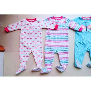 Brand New Carter's Footed Microfleece Pajamas