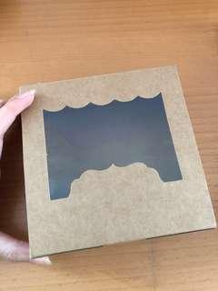 kraft box with transparent top