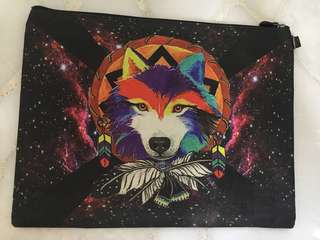 Laptop pouch - wolf design