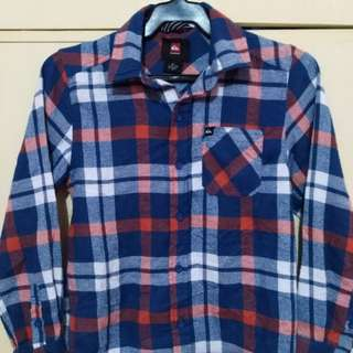 Flannel/Plaid Long Sleeve Polo