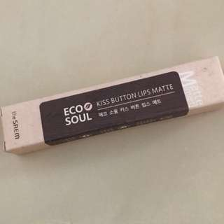 Saem KISS Button Lips Matte Eco Soul Shade 08