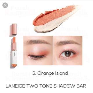 Laneige two tone shadow bar