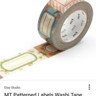 MT ex label kamoi washi tape